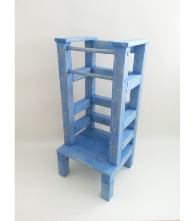 Učící věž – modrá lazura