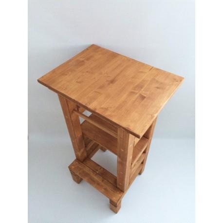 Odkaládací stolek na učící věž - lazura s povrchovým lakem