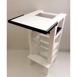 Jídelní stolek na učící věž - černá barva