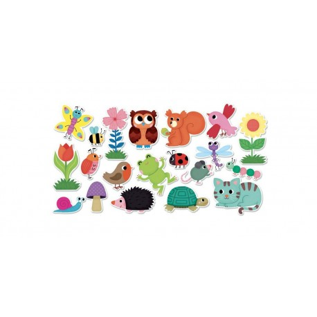 Magnetky na tabuli k učící věži - záhrada